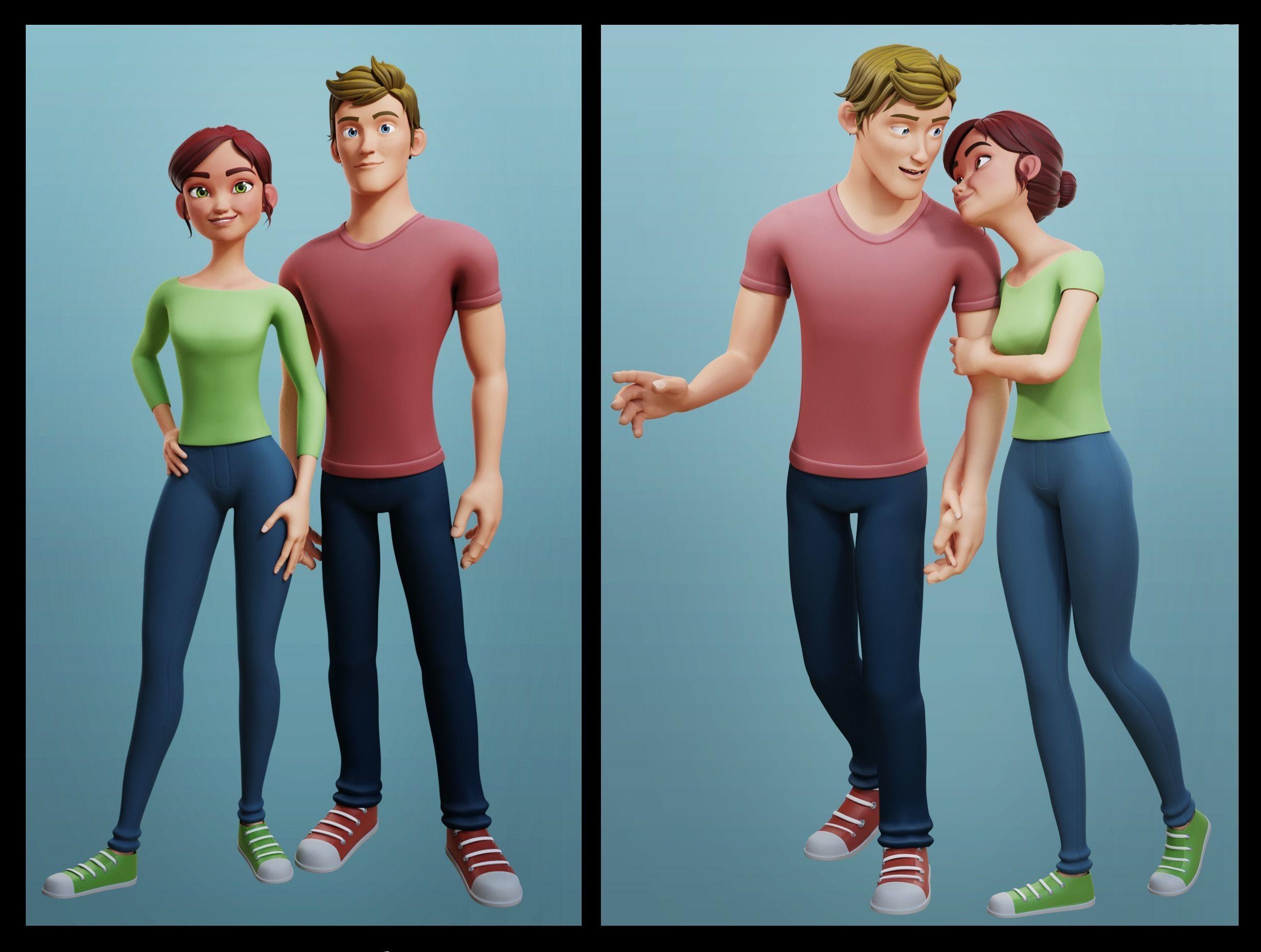 Nina and Alex Cartoon Rigs