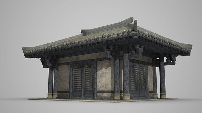 ancient architecture palace house 3d model max 1