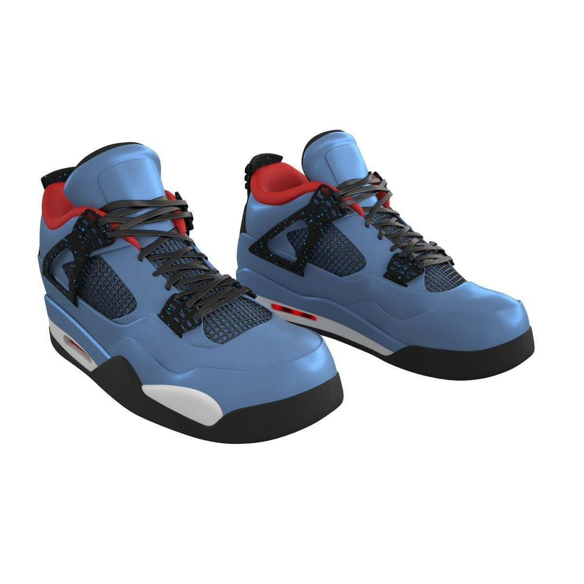 buy popular ad9d2 8af50 Air Jordan 4 Travis Scott Shoes | 3D model