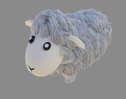 3D asset Sheep cartoon