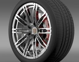 Porsche 911 Turbo 2013 wheel 3D