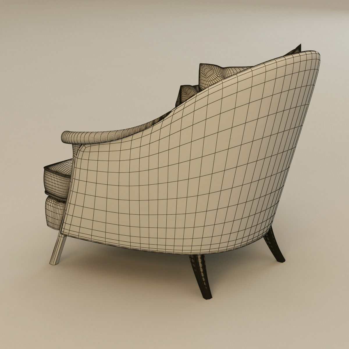 CHRISTOPHER GUY POLTRONA armchair 3D Model MAX OBJ 3DS FBX ...