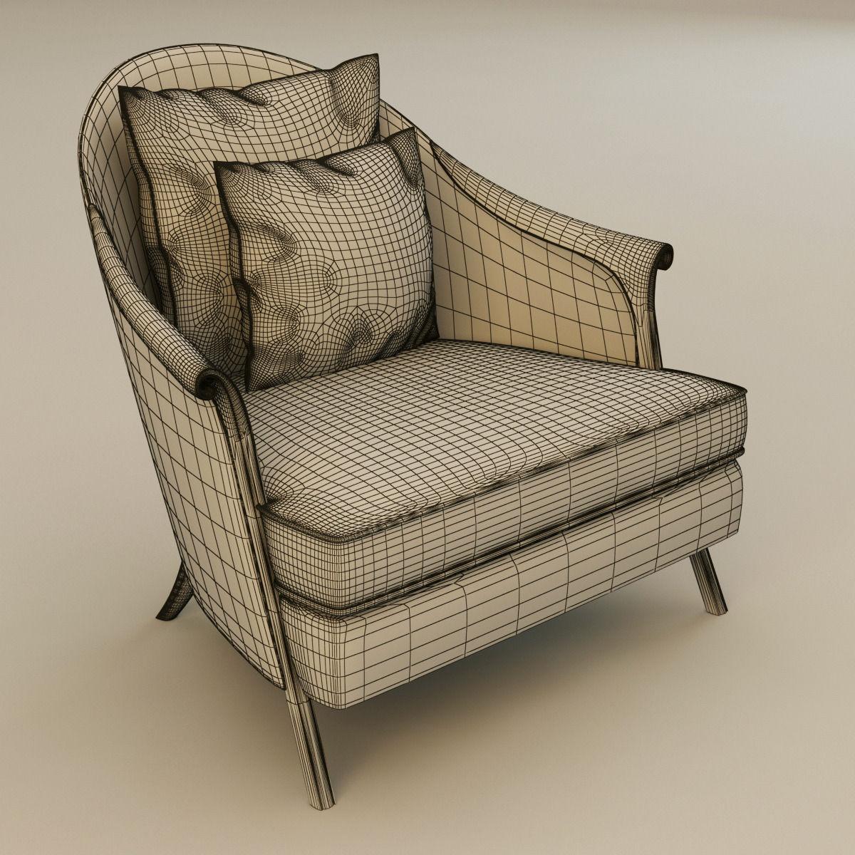 Christopher guy poltrona armchair 3d model max obj 3ds fbx for Poltrona 3d