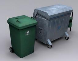 3D model trash can