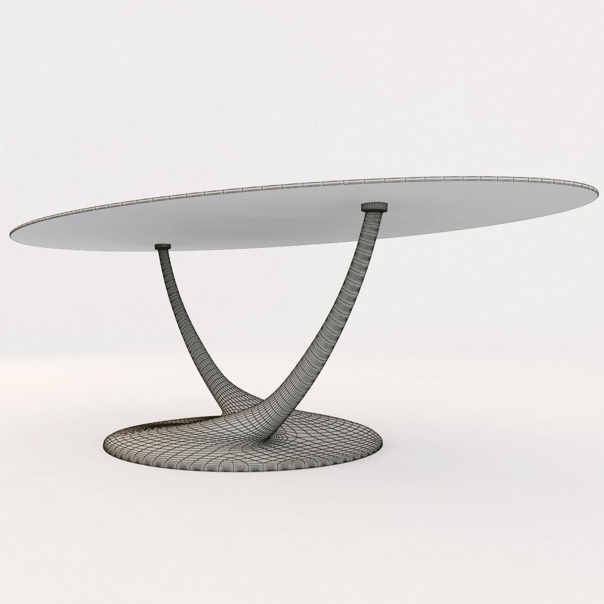 ... Cattelan Italia Coral Table 3d Model Max Obj 3ds Fbx Mtl 3 ...
