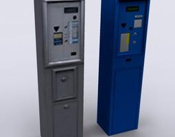 parking meter 3D asset