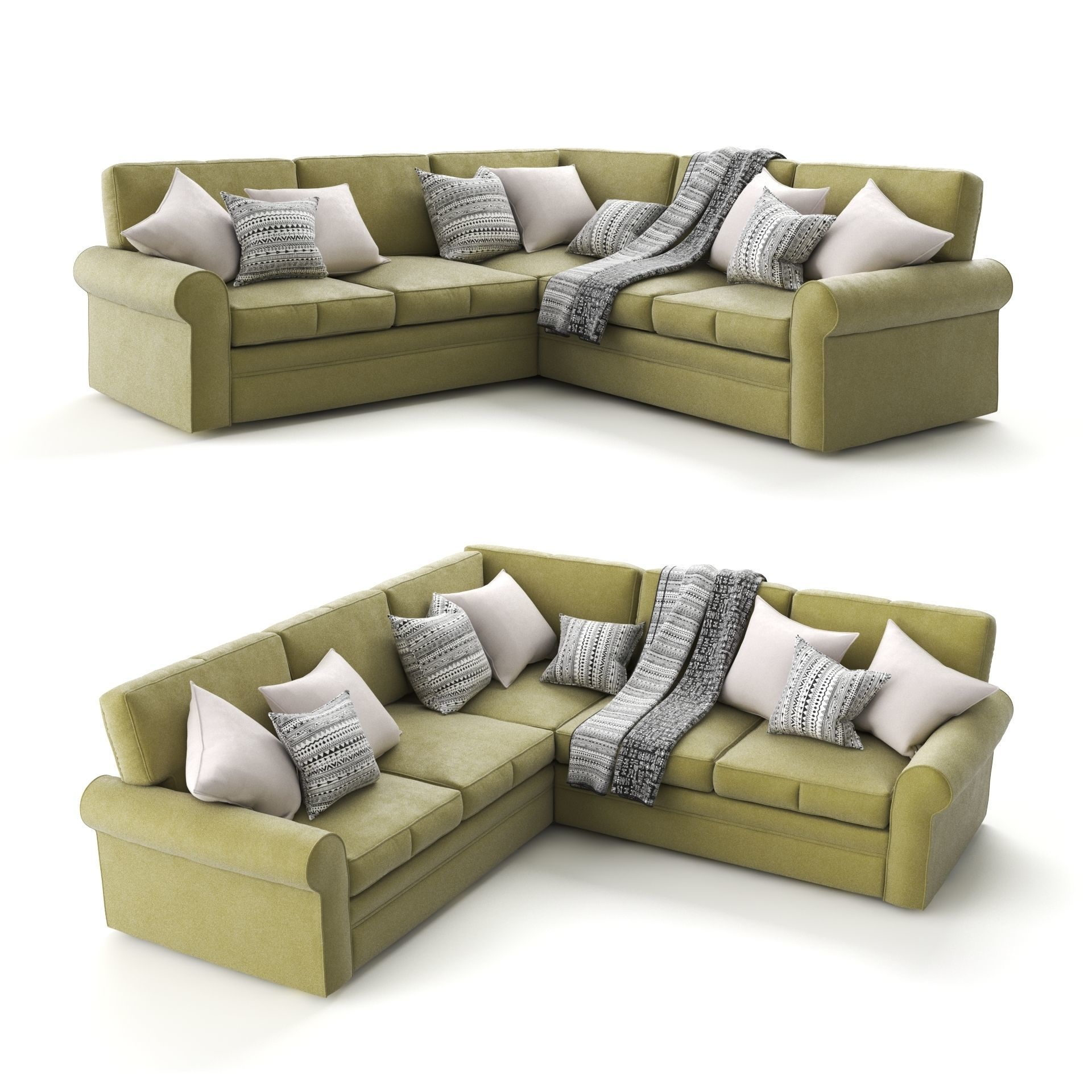 Green Corner Sofa by Century Furniture | 3D model
