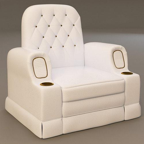 cinema seat armchair 3d model max obj mtl 3ds fbx 1