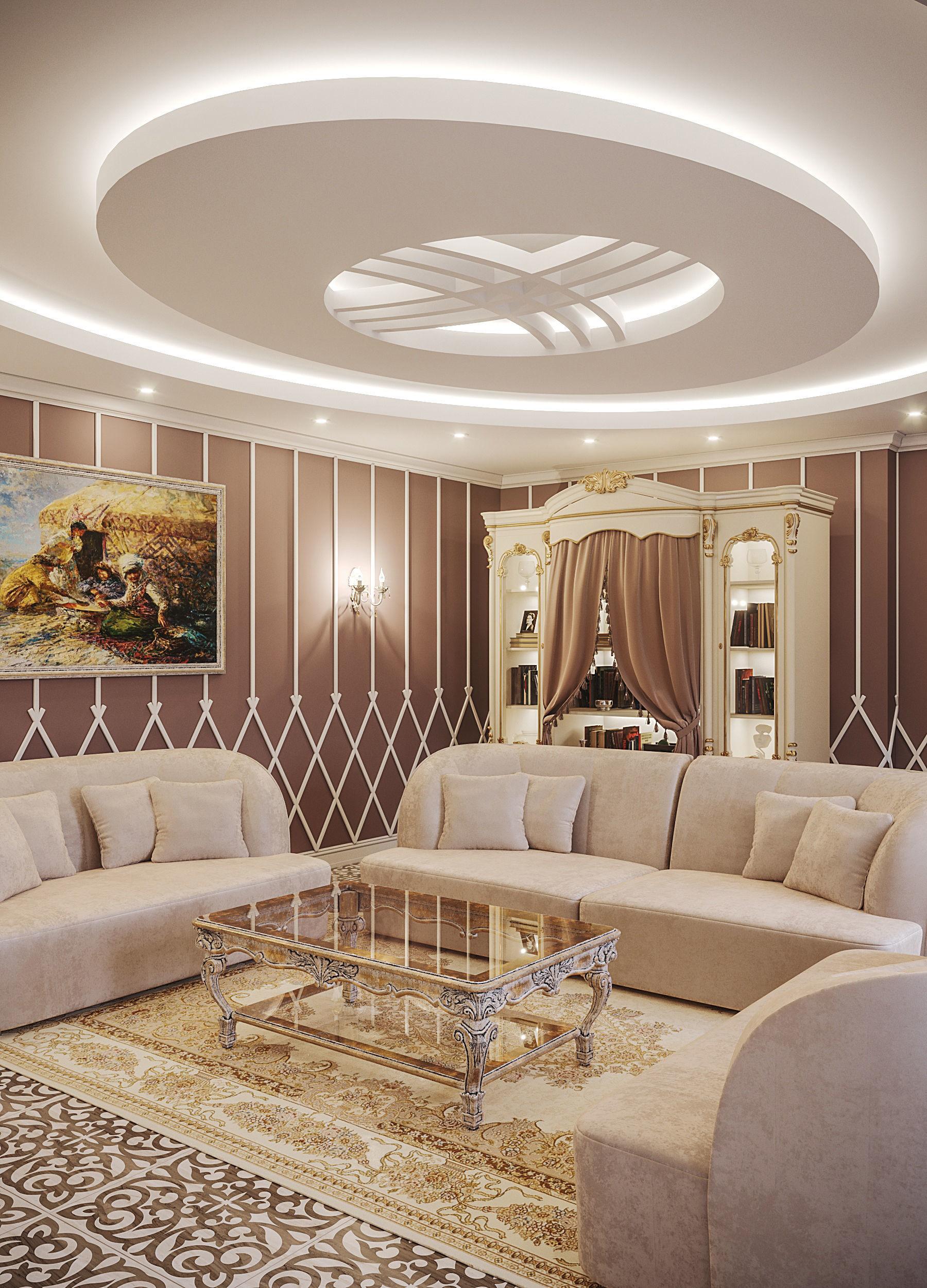 3d Room Interior Design: Interior Neoclassic Living Room 09 3D