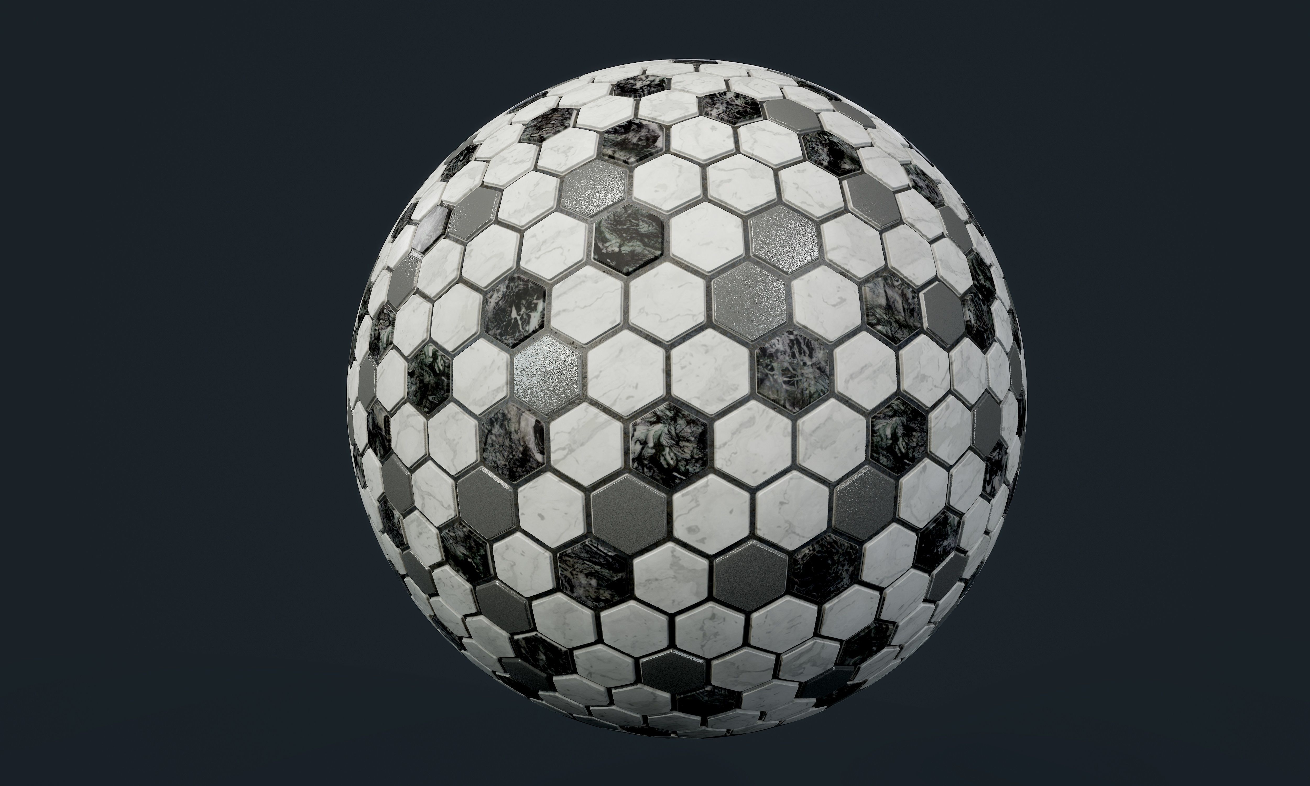 Marble Tile Seamless PBR Texture