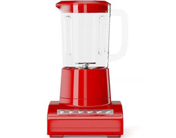 3d model red countertop blender
