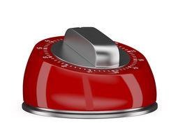 red kitchen timer 3d model