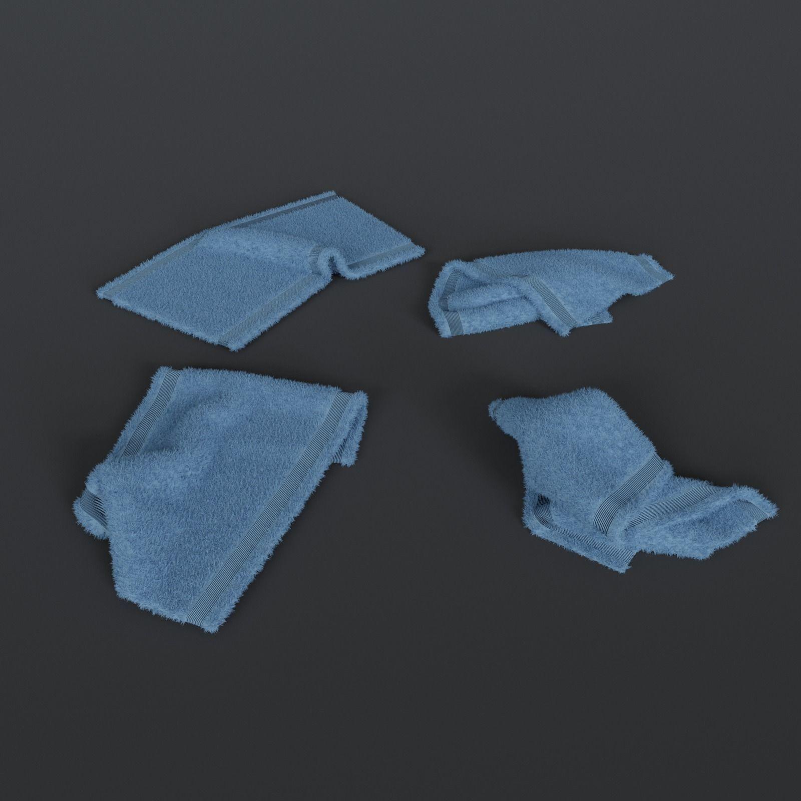 Crumpled towels set