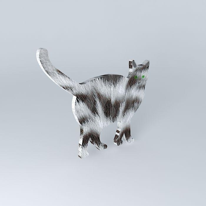 The Silver Fur Cat (2D Semi 3D)   CGTrader