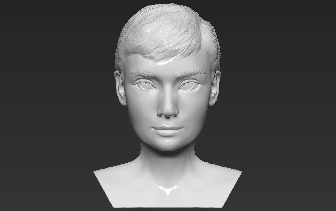 Audrey Hepburn bust 3D printing ready stl obj formats
