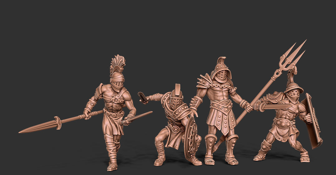 Gladiator bundle - 4 miniatures 35 mm scale