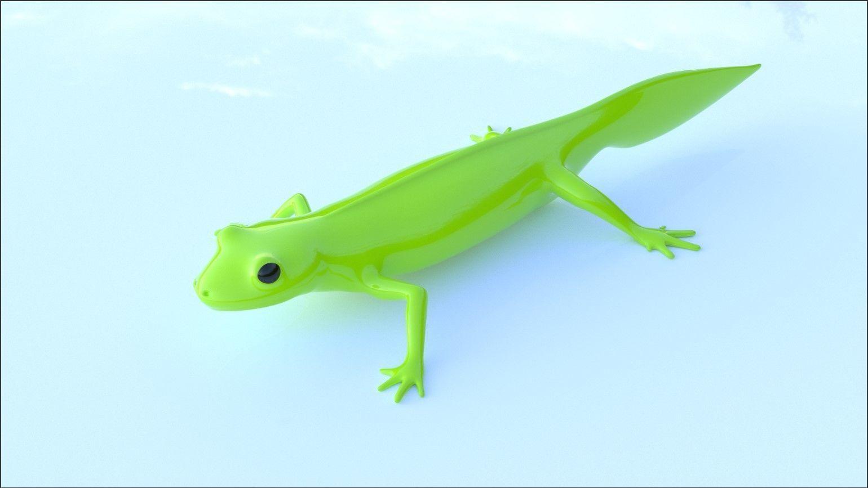 Lizard Triturus Alpestris lowpoly basemesh
