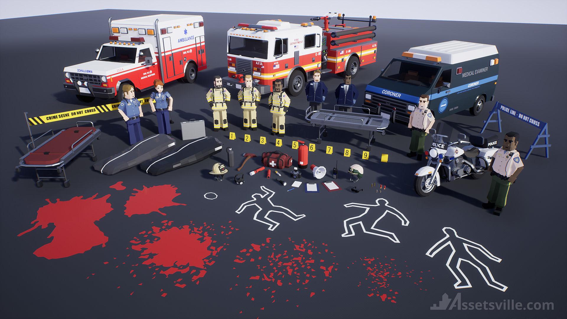 Assetsville 911 First Responders