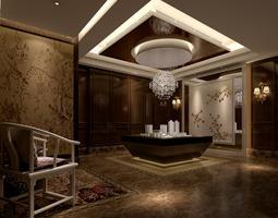 exhibition in room museum  3d