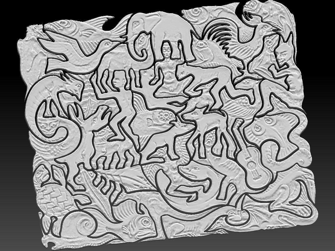 Mc Escher Puzzle 3d Print Model