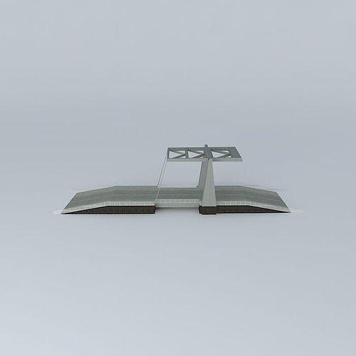 Drawbridge 3D model | CGTrader