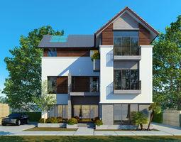 CN house 3D model architecture
