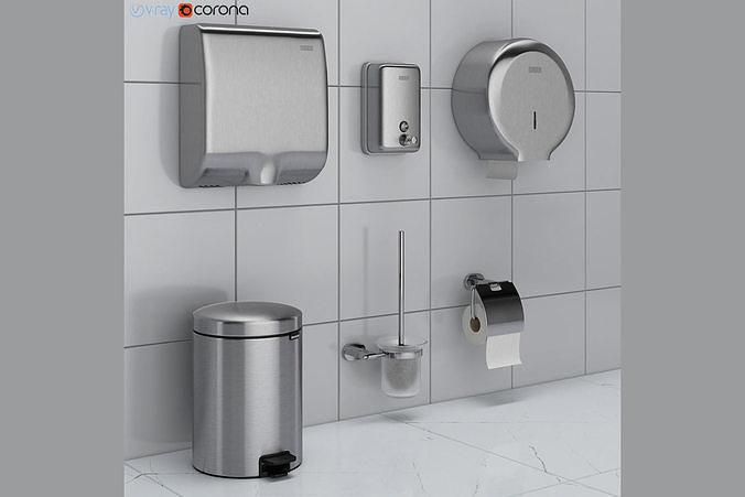 Bathroom Accessories Set 43 Ravak, Brabantia Bathroom Accessories