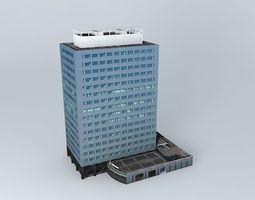 3D model Office Building building structures