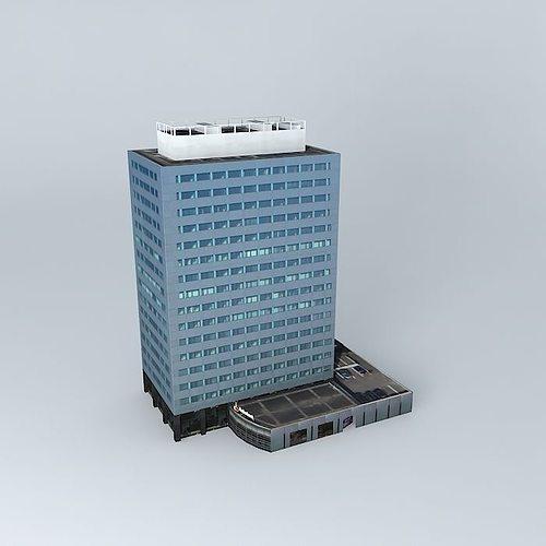 office building 3d model max obj 3ds fbx stl skp 1