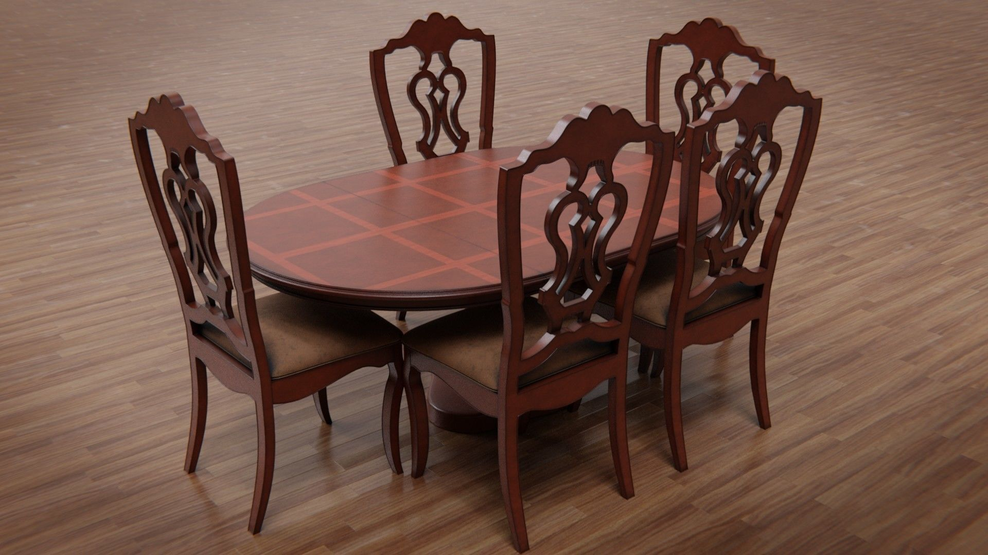 Dining Table and Chair  9D model