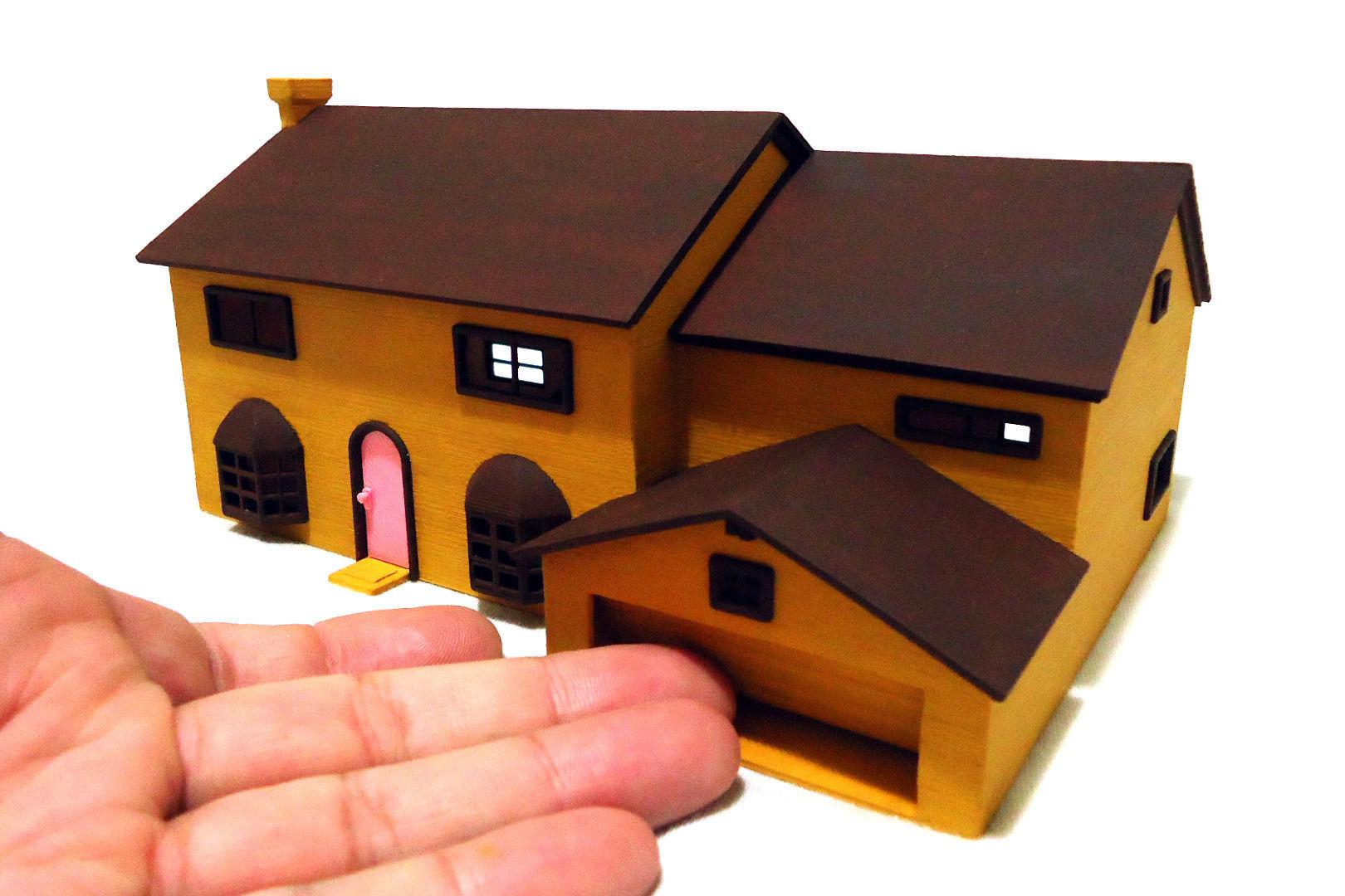 Free printable model house