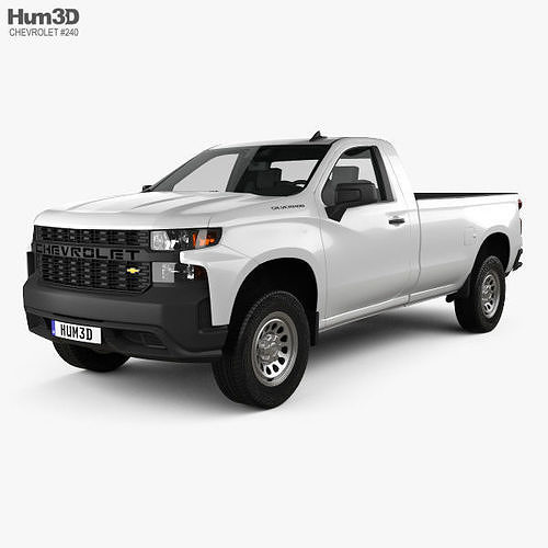 Chevrolet Silverado Regular Cab Wt 2018 3d Model
