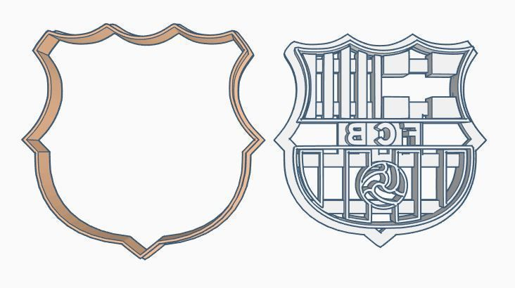 FCB Barcelona shield Cookie Cutter Set