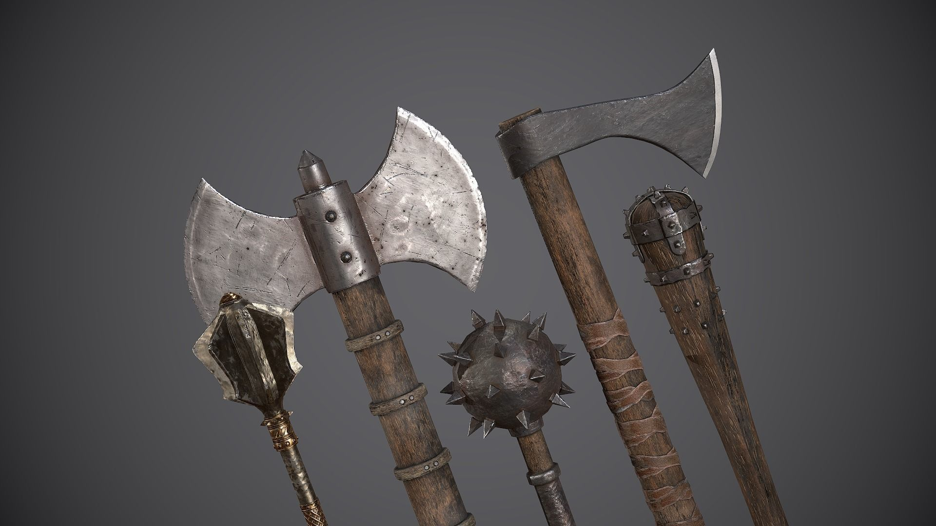 Medieval Axes and Clubs