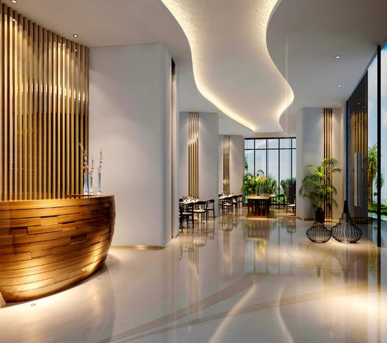 3d Model Breakfast Room In Hotel Cgtrader