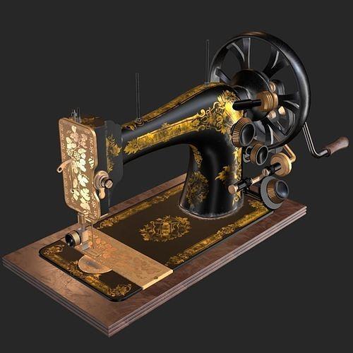 Old Antique Sewing Machine PBR