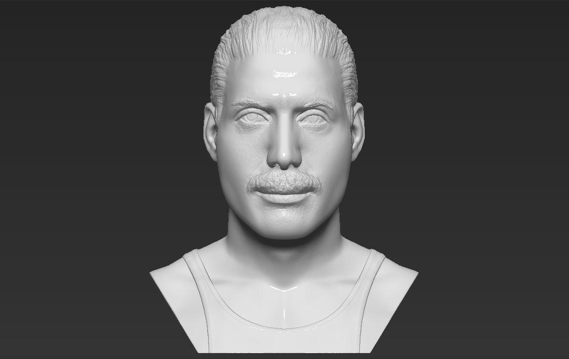 Freddie Mercury bust 3D printing ready stl obj formats