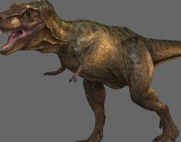 tyrannosaurus rex -maya 3d model animated