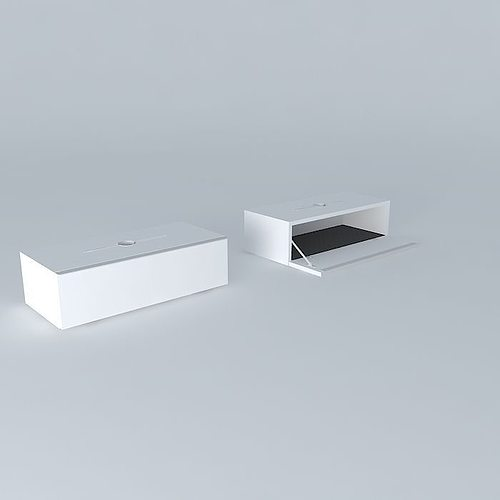 Ludvig Router modem wall cabinet 3D model | CGTrader