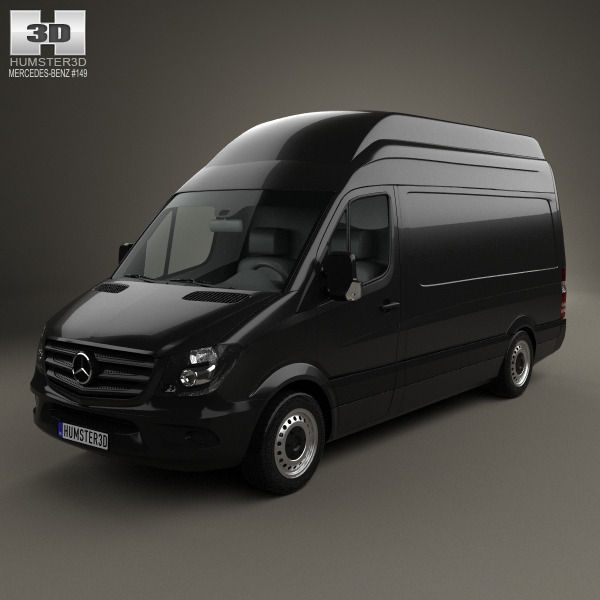2018 Freightliner Sprinter 2500 Cargo Interior: Mercedes-Benz Sprinter Panel Van SWB SHR 2013 3D Model MAX