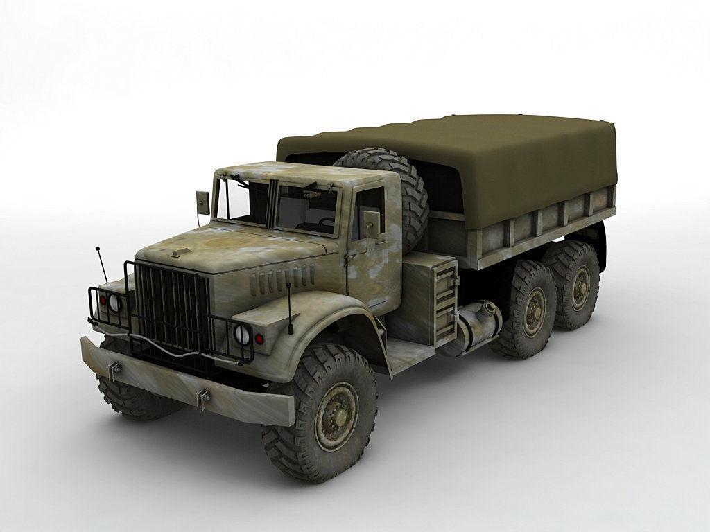 Military Offroad Truck Kraz 255b