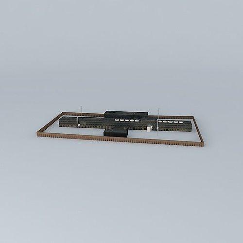 prison 3d model max obj 3ds fbx stl dae 1