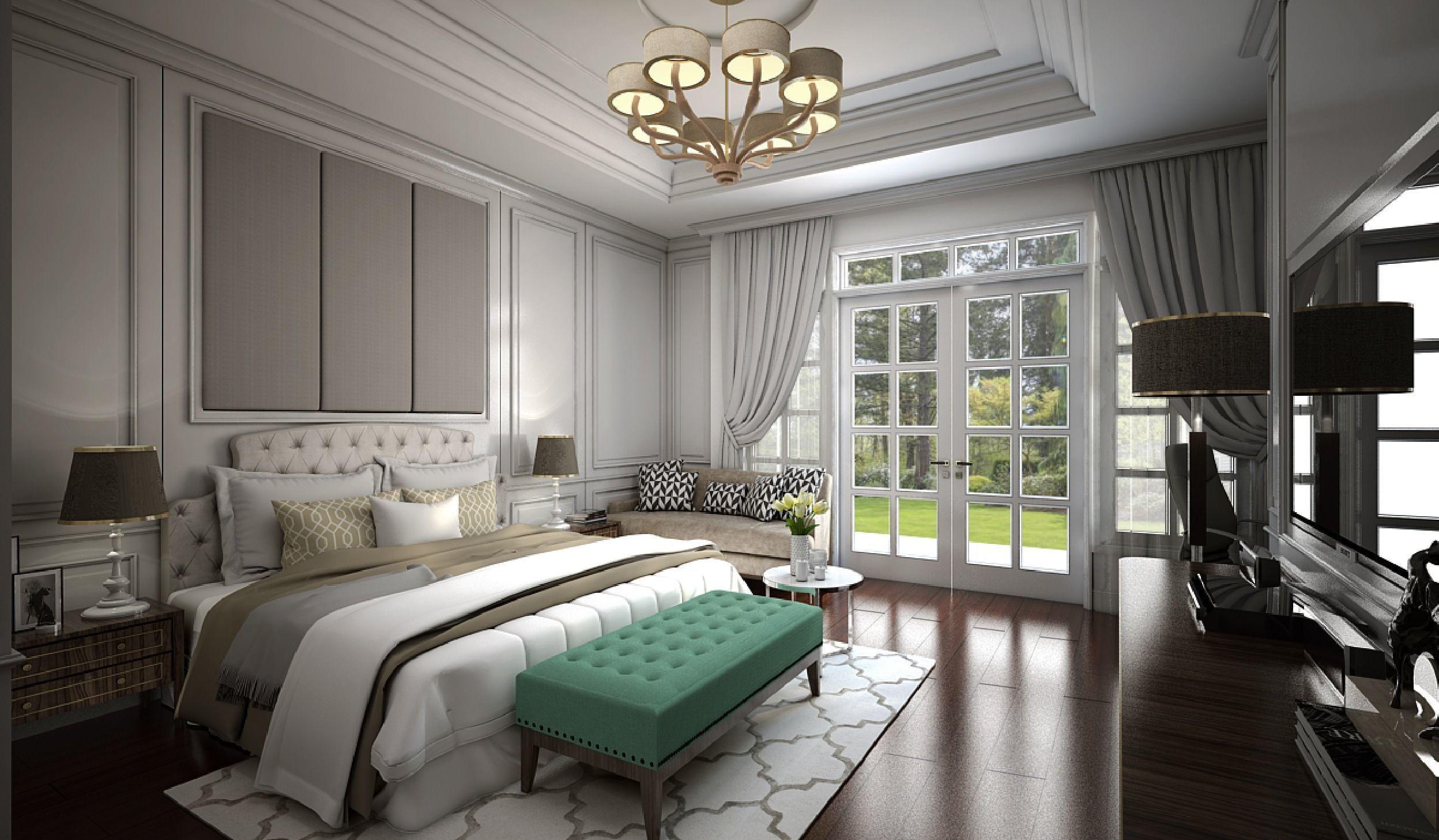 3D Master Bedroom sketchup   CGTrader