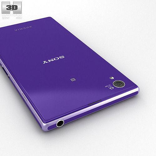 sony xperia z1 purple. sony xperia z1 purple 3d model max obj 3ds fbx c4d lwo lw lws 7 e