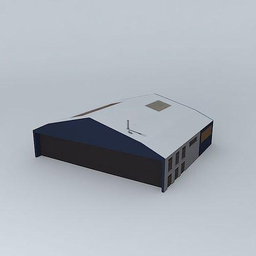 storage building 3d model max obj 3ds fbx stl skp 1