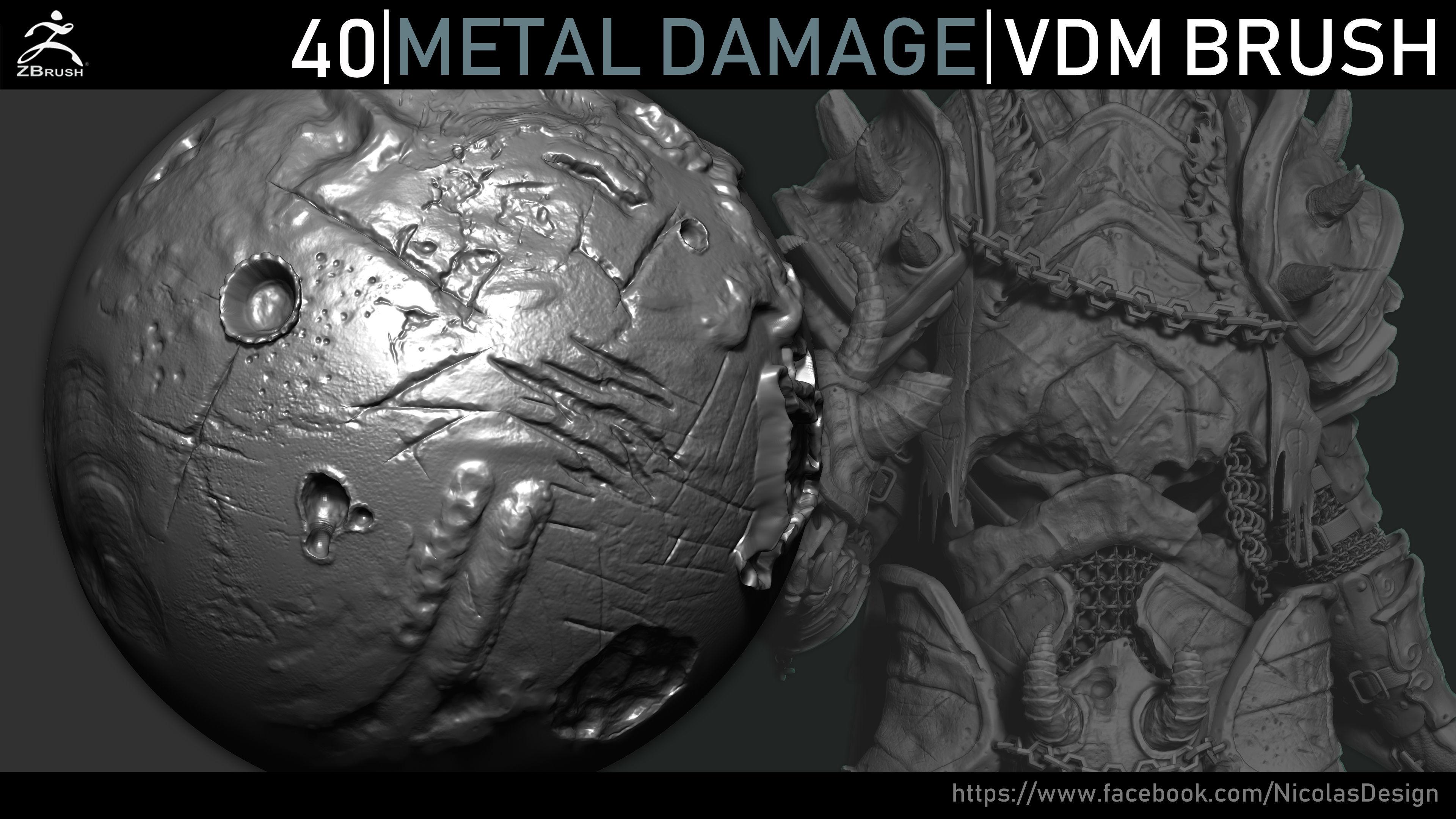 Zbrush - Metal Damage VDM Brush