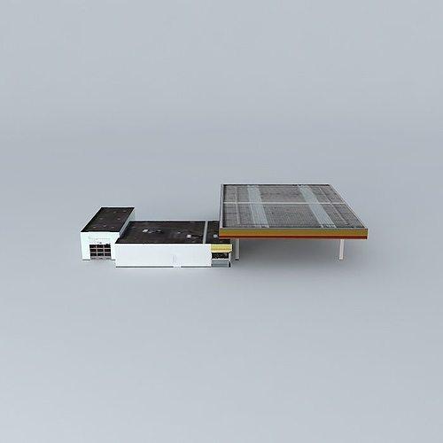 gas station shell 3d model max obj 3ds fbx stl dae 1