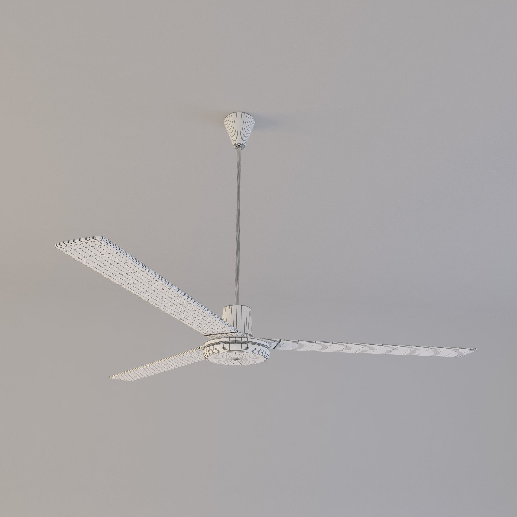 3d simple ceiling fan cgtrader simple ceiling fan 3d model obj fbx c4d 4 aloadofball Choice Image