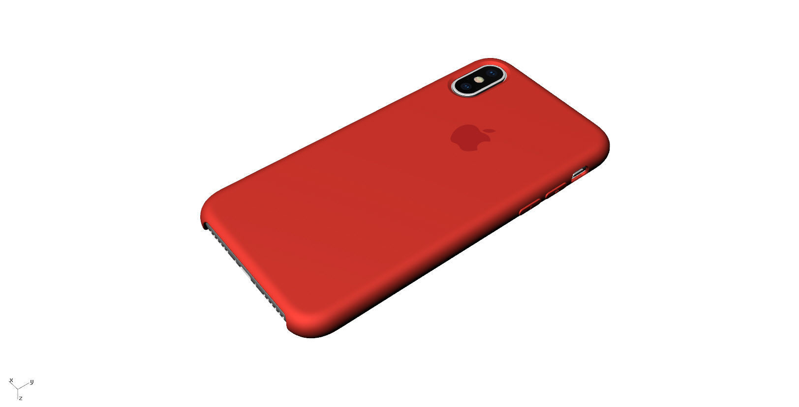 Iphone X Official original liquid silicone case 3d model
