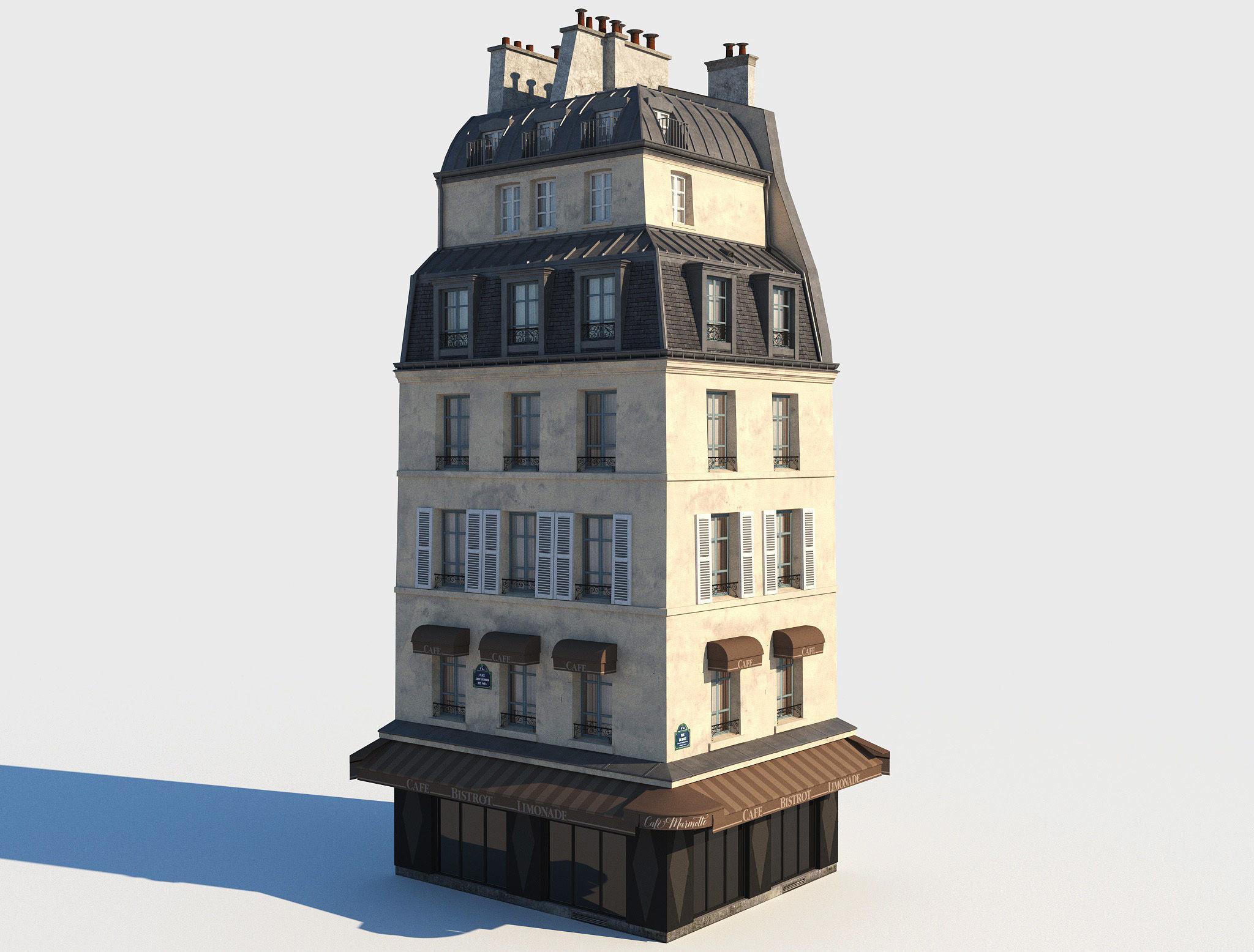 Corner paris building